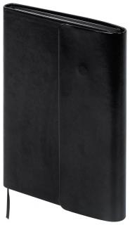 """Ежедневник недатированный А5 (148х218 мм) Galant """"Black"""", 160 л., под гладкую кожу, магнитный клапан, черный  Galant"""