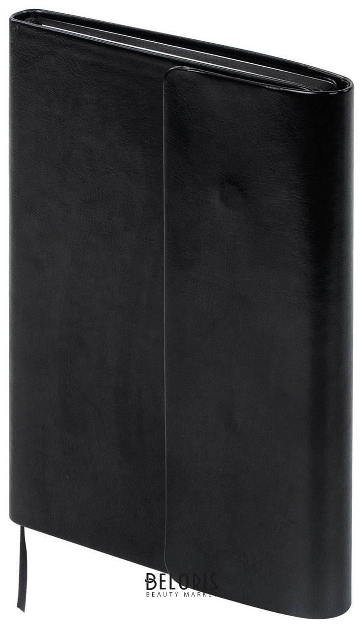 Ежедневник недатированный А5 (148х218 мм) Galant Black, 160 л., под гладкую кожу, магнитный клапан, черный Galant