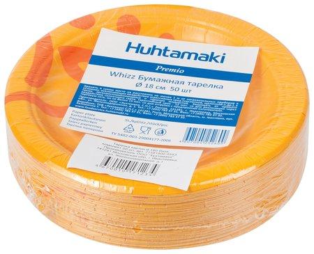 "Одноразовые тарелки диаметр 180 мм, комплект 50 шт., картон, холодное / горячее, Хухтамаки ""Whizz""  Huhtamaki"