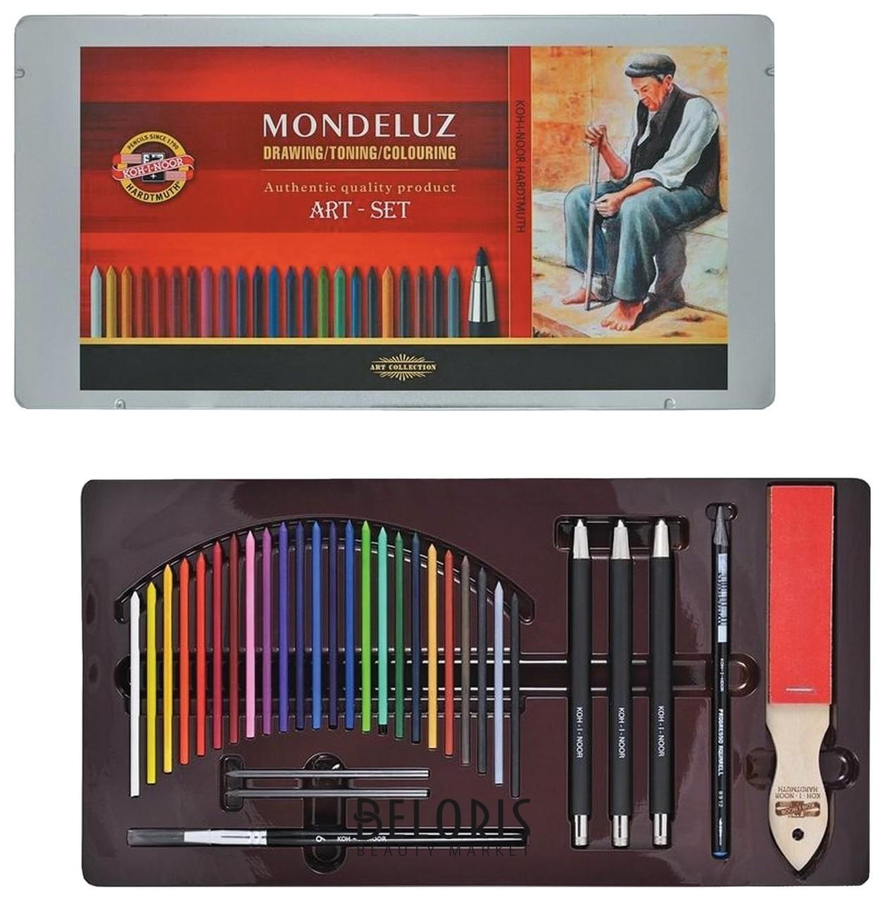 Набор художественный Koh-i-noor Mondeluz, 32 предмета, металлическая коробка Koh-i-noor