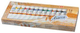 """Краски масляные художественные """"Ладога"""", набор 12 цветов по 18 мл, в тубах  Невская палитра"""