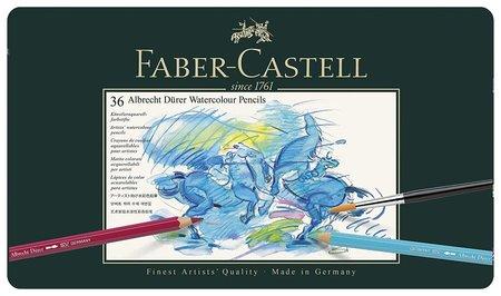 """Карандаши цветные акварельные художественные Faber-castell """"Albrecht Durer"""", 36 цветов, металлическая коробка  Faber-castell"""