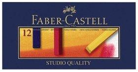 """Пастель сухая художественная Faber-castell """"Soft Pastels"""", 12 цветов, квадратное сечение  Faber-castell"""