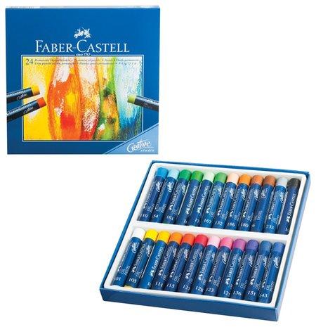 "Пастель масляная художественная Faber-castell ""Oil Pastels"", 24 цвета, круглое сечение  Faber-castell"