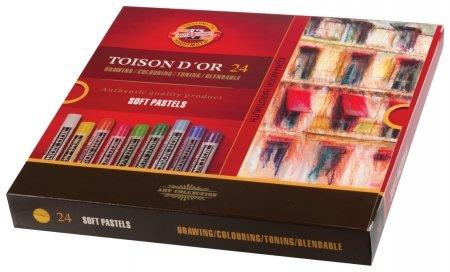 """Пастель мягкая художественная Koh-i-noor """"Toison D'or"""", 24 цвета, круглое сечение   Koh-i-noor"""