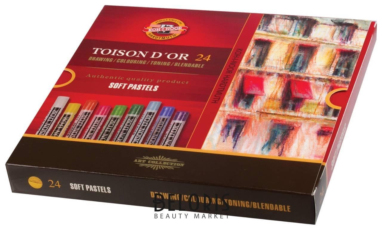 Пастель мягкая художественная Koh-i-noor Toison D'or, 24 цвета, круглое сечение  Koh-i-noor