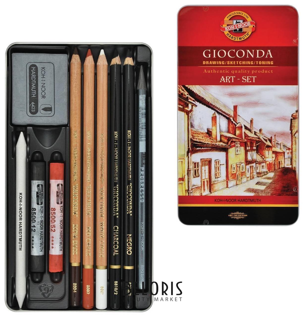 Набор художественный Koh-i-noor Gioconda, 10 предметов, металлическая коробка  Koh-i-noor