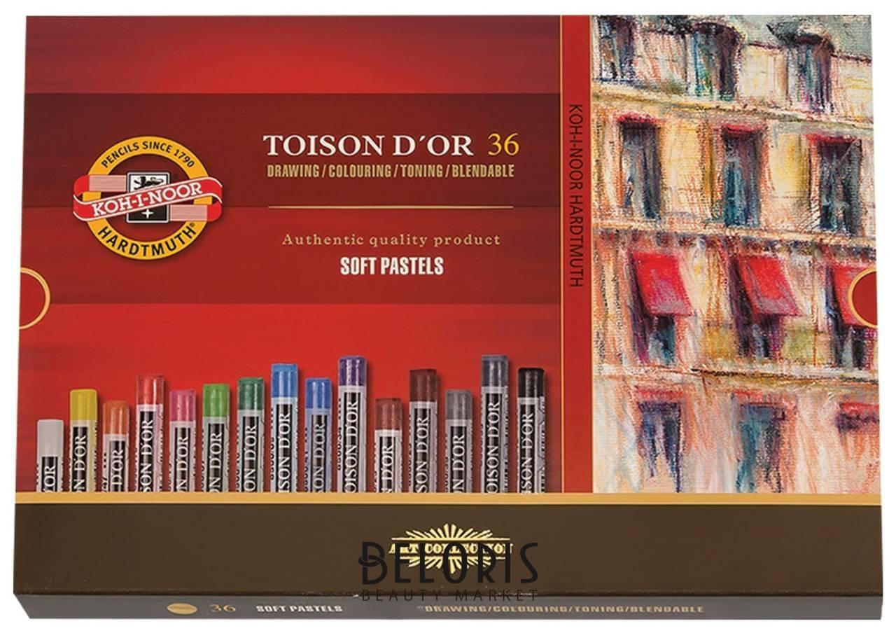 Пастель мягкая художественная Koh-i-noor Toison D'or, 36 цвета, круглое сечение  Koh-i-noor
