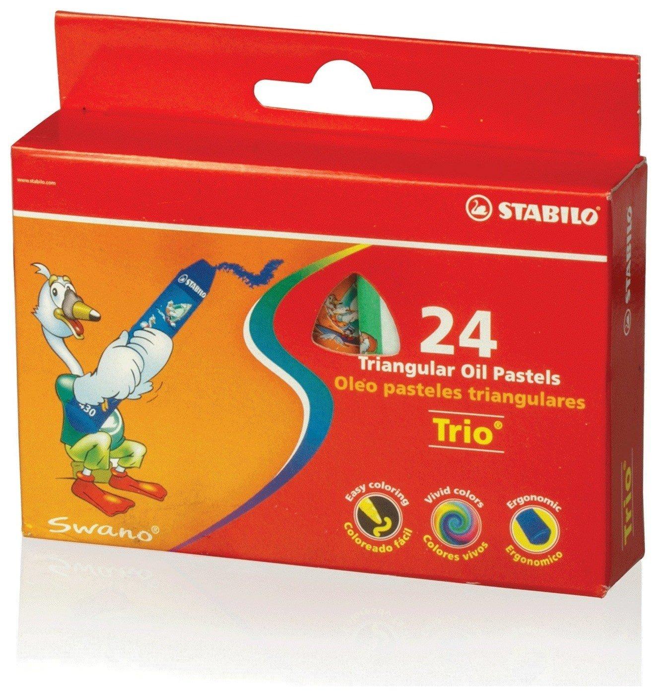 """Восковые мелки утолщенные Stabilo """"Trio"""", на масляной основе, трехгранные, 24 цвета, европодвес  Stabilo"""