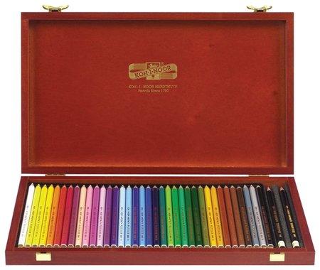 """Карандаши цветные Koh-i-noor """"Polycolor"""", 36 цветов, грифель 3,8 мм, заточенные, деревянный ящик   Koh-i-noor"""