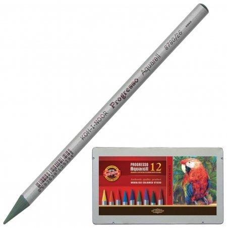 Карандаши цветные акварельные 12 цветов 7,1 мм Progresso Koh-i-noor