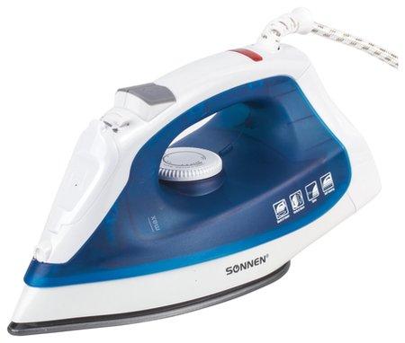Утюг SONNEN SI-237A, 1800 Вт, антипригарное покрытие, синий / белый   Sonnen