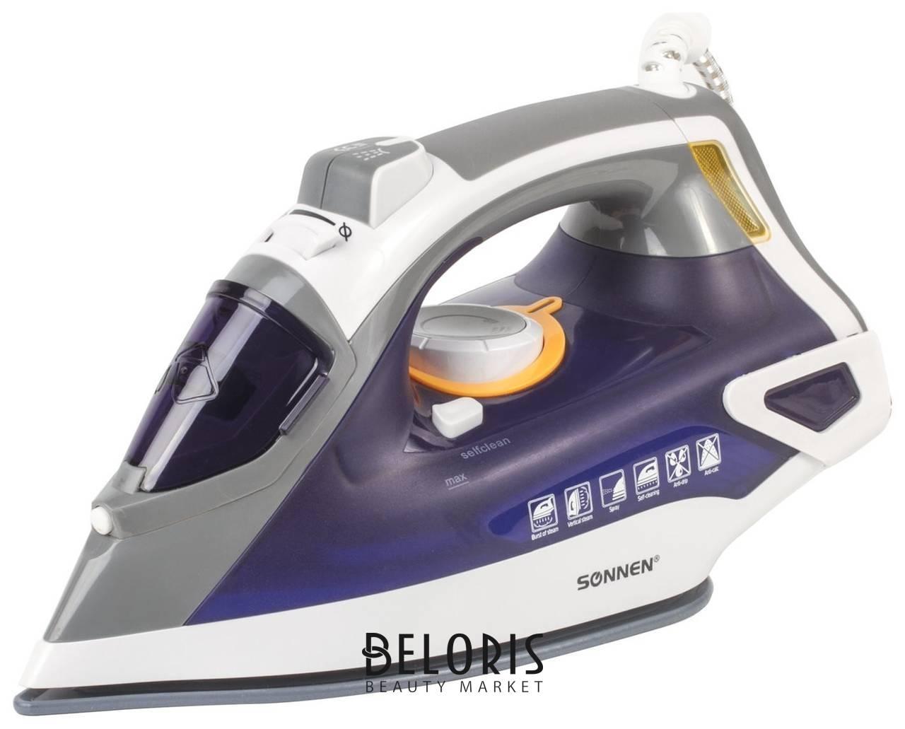 Утюг SONNEN SI-240, 2600 Вт, керамическое покрытие, антикапля, антинакипь, фиолетовый, 453507 Sonnen