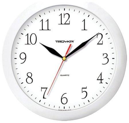 Часы настенные TROYKA 11110113, круг, белые, белая рамка, 29х29х3,5 см  Troyka