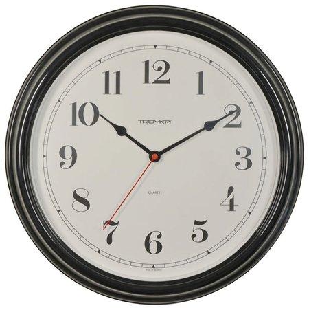 Часы настенные TROYKA 88880886, круг, белые, черная рамка, 31х31х4,5 см  Troyka