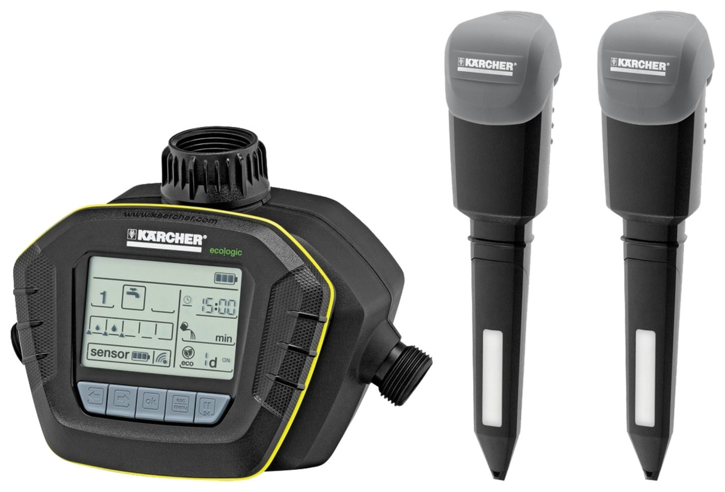 Таймер поливочный KARCHER SensoTimer ST6 Duo, 2 датчика влажности почвы, съемный дисплей  Karcher