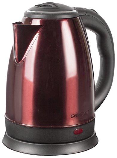 Чайник SONNEN KT-118С, 1,8 л, 1500 Вт, закрытый нагревательный элемент, нержавеющая сталь, кофейный  Sonnen