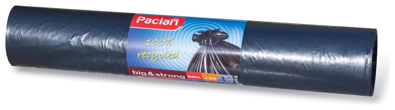 "Мешки для мусора 240 л, черные, в рулоне, ПВД, 35 мкм, 140х90 см, PACLAN ""Big&Strong""  Paclan"