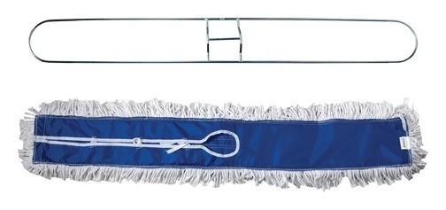 Держатель-рамка 100 см для плоских МОПов цельный, МОП на завязках, хлопок, черенок 601513, ЛАЙМА PROFESSIONAL Лайма