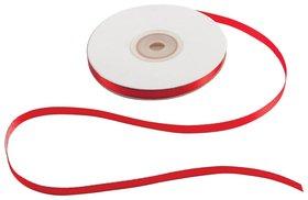 Лента обвязочная атласная для прошивки документов, красная, ширина 6 мм, комплект 4х25 м (100 м), +/- 5%   КНР