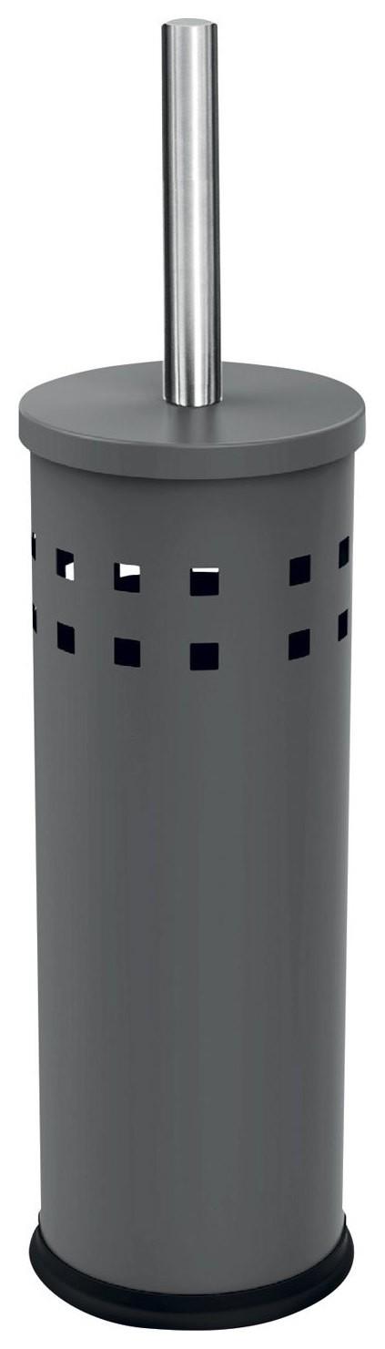Ерш для унитаза ЛАЙМА, с подставкой, металл, серый, матовый   Лайма