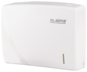 Диспенсер для полотенец LAIMA PROFESSIONAL ORIGINAL (Система H2), Interfold, белый, ABS-пластик