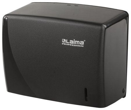 Диспенсер для полотенец LAIMA PROFESSIONAL ORIGINAL (Система H3), V (ZZ), черный, ABS-пластик   Лайма