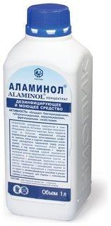 Средство дезинфицирующее аламинол концентрат, 1 л  Аламинол
