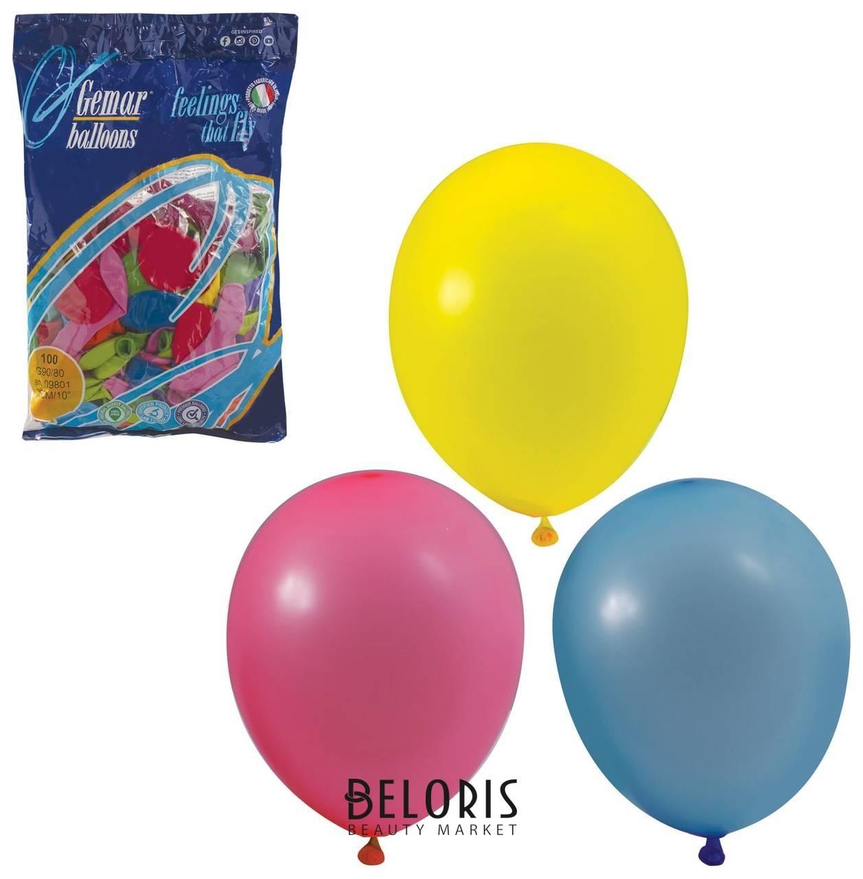 Шары воздушные 10 (25 см) 12 пастельных цветов Веселая затея