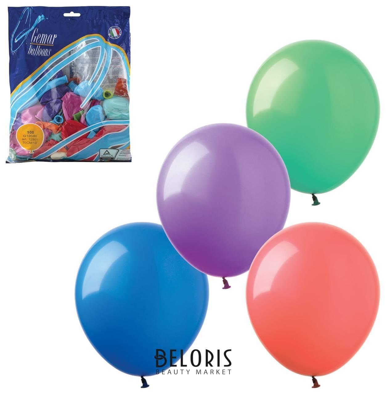 Шары воздушные 14 (36 см), комплект 100 шт., 12 пастельных цветов, в пакете Веселая затея