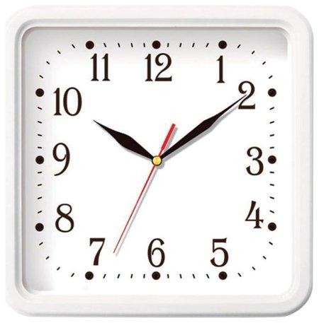 Часы настенные TROYKA, квадрат, белые, белая рамка, 26х26х3,5 см  Troyka