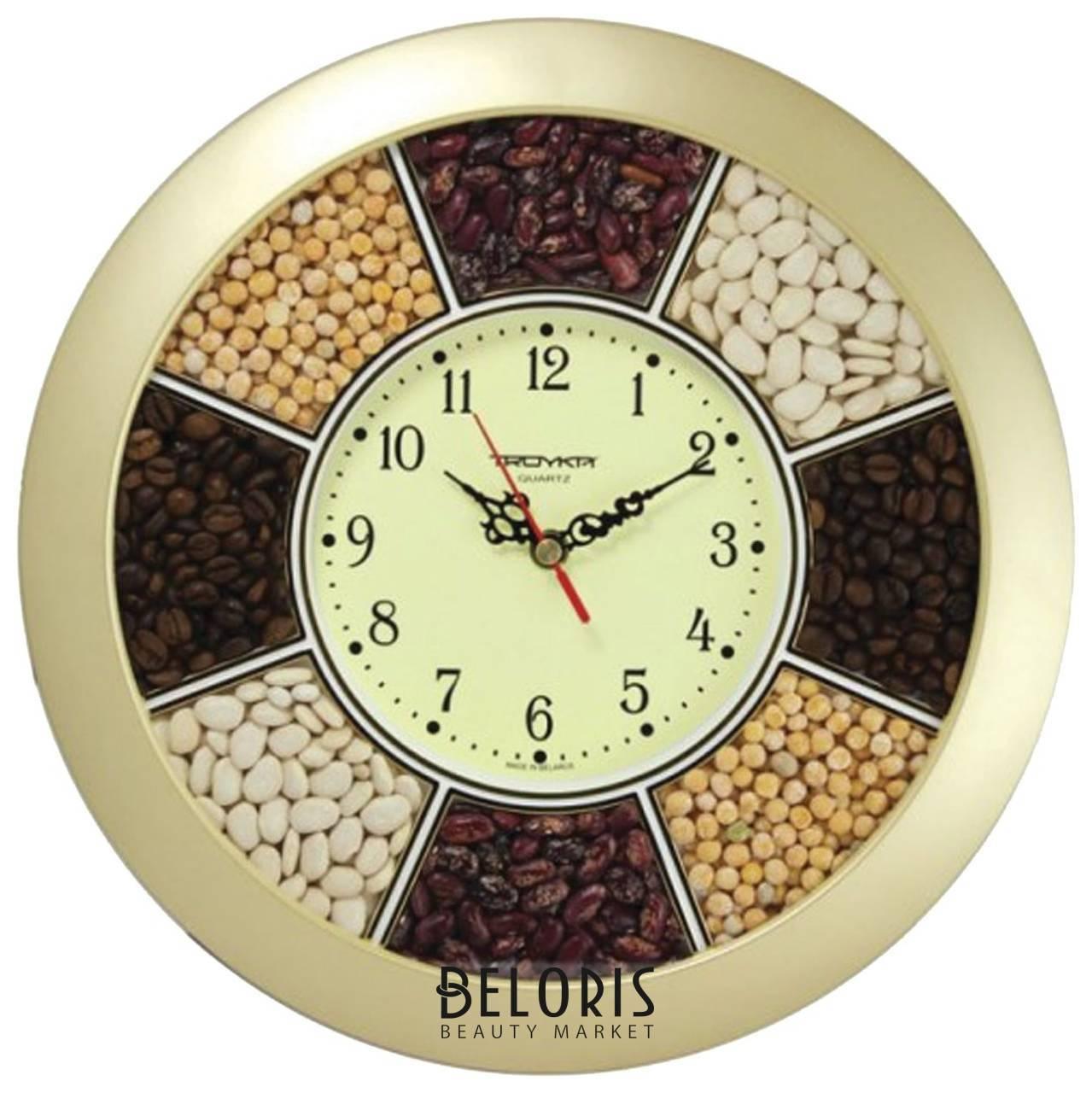 Часы настенные Troyka, круг, Часы-специи, золотая рамка, 29х29х3,5 см Troyka