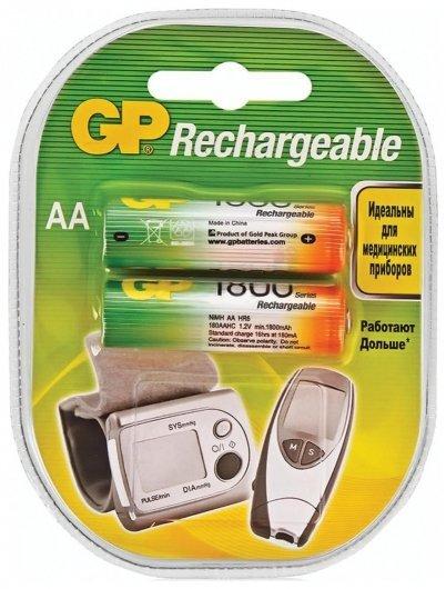 Батарейки аккумуляторные АА, Ni-Mh, 1800 mAh  GР