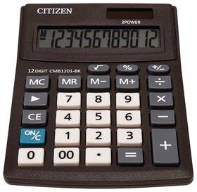 Калькулятор настольный CITIZEN BUSINESS LINE CMB1201BK, малый (137х102 мм), 12 разрядов, двойное питание  Citizen