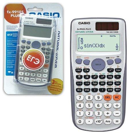 Калькулятор инженерный CASIO FX-991ESPLUS-SBEHD (162х80 мм), 417 функций, двойное питание, сертифицирован для ЕГЭ  Casio