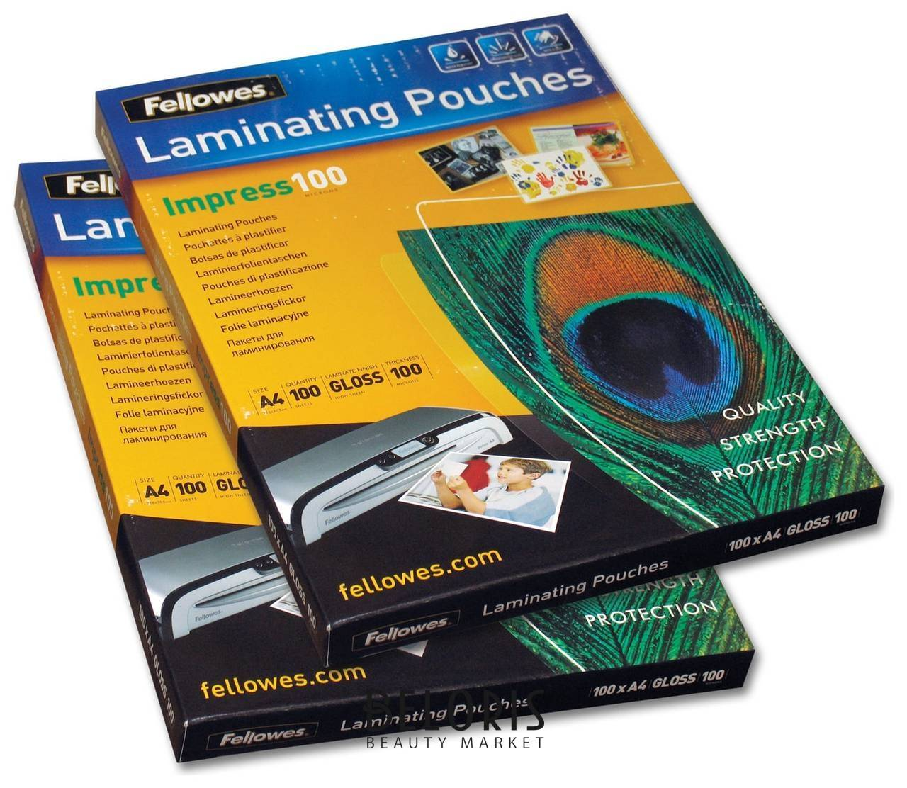 Пленки-заготовки для ламинирования, А4, комплект 100 шт., 100 мкм, FELLOWES  Fellowes
