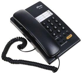 Телефон RITMIX RT-330 black, быстрый набор 3 номеров, мелодия удержания, черный   Ritmix