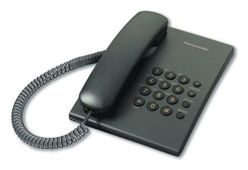 Телефон PANASONIC KX-TS2350RUB, черный, повторный набор, тональный/импульсный режим  Panasonic