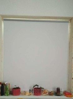 Отзыв на товар: Штора рулонная светонепроницаемая (Блэкаут) Brabix 120х175 см, белый/серебро. Brabix.