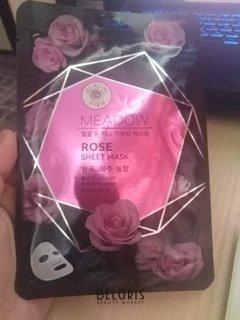 Отзыв на товар: Маска для лица тканевая с ледниковой водой Роза и Женьшень Meadow. Mi-Ri-Ne.