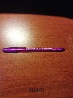 """Отзыв на товар: Ручка шариковая Brauberg """"X-333"""" Violet, фиолетовая, корпус тонированный фиолетовый, узел 0,7 мм, линия письма 0,35 мм. Brauberg."""