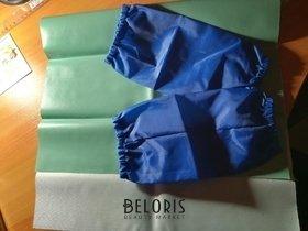 Отзыв на товар: Набор для уроков труда Зелёная клеёнка и синие нарукавники. Пифагор.