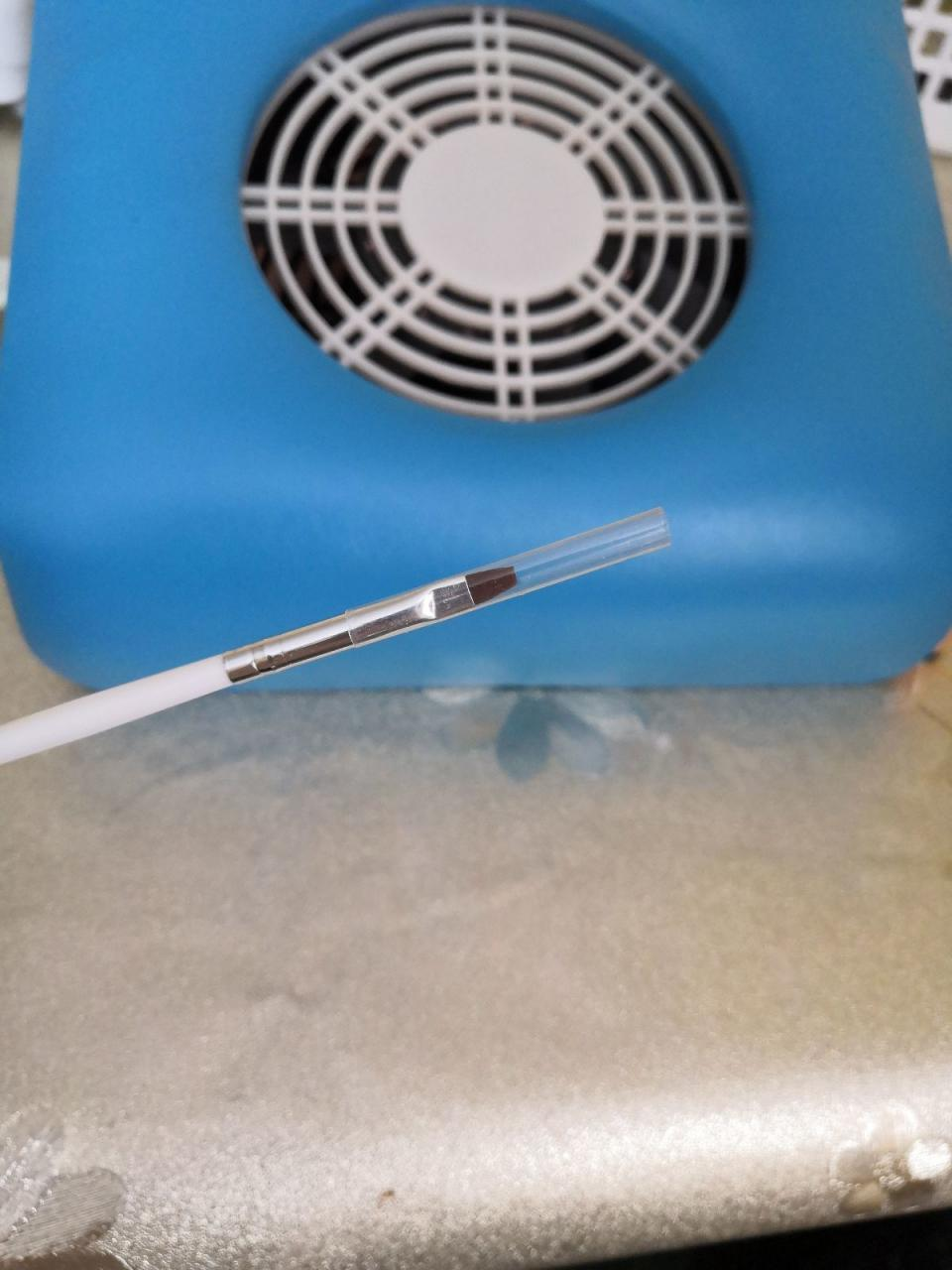 Отзыв на товар: Кисть для дизайна и наращивания ногтей прямая плоская, 17,5 см, цвет белый. Queen Fair. Вид 1 от 1613908988