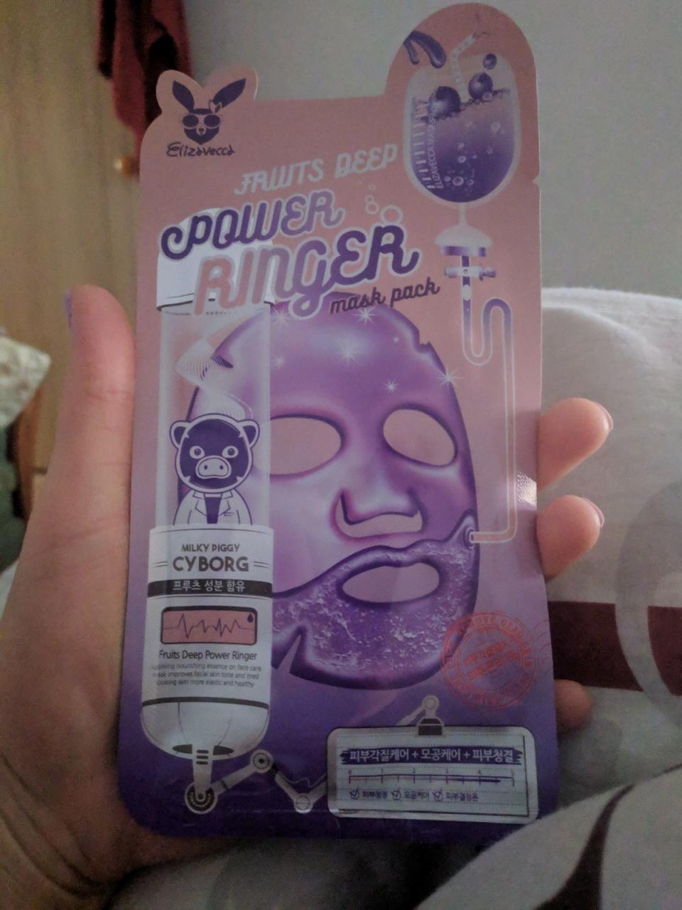 """Отзыв на товар: Успокаивающая тканевая маска для лица с фруктовыми экстрактами """"Fruits Deep Mask Pack"""". Elizavecca. Вид 1 от 1617938107"""